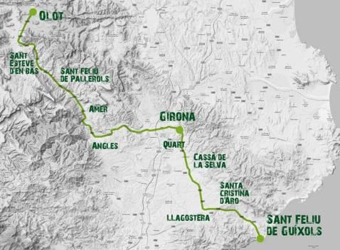 carte Girona Trailwalker Oxfam 2017